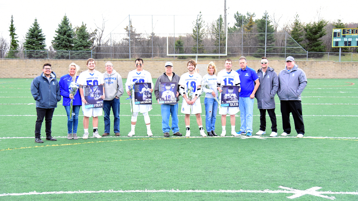Men's Lacrosse Upsets No. 9 Siena Heights with 13-8 Win on Senior Day at Farmington Hills Harrison