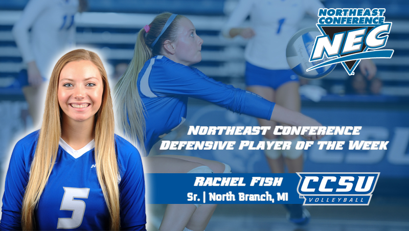 Fish Earns Northeast Conference Weekly Volleyball Award