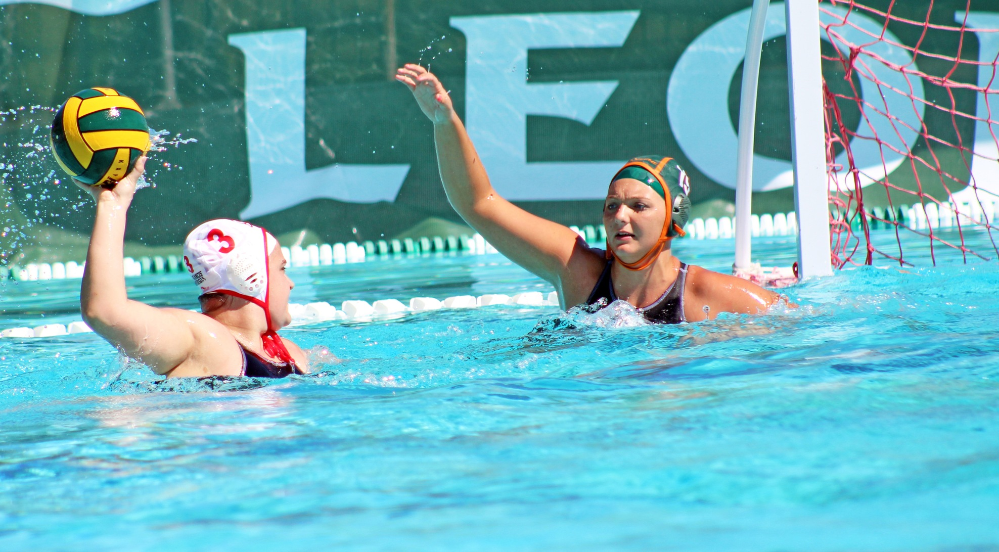 Water Polo edged by Red Flash