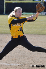 Katie Ferguson threw her third straight complete game to defeat Siena