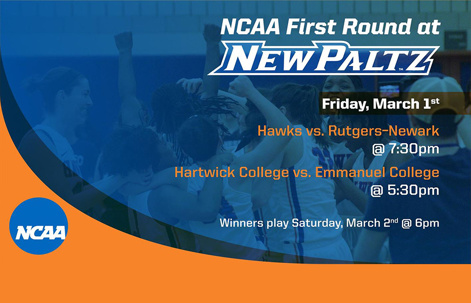 New Paltz to Host First Two Rounds of NCAA Division III Women's Basketball Tournament