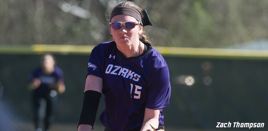 Abby Mork tossed a one-hitter against Sul Ross State.