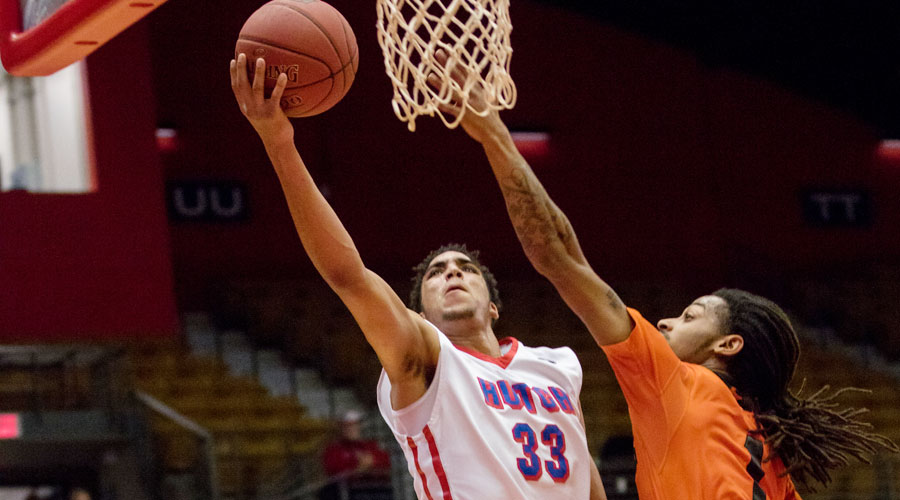 James Rojas scored 21 points as the No. 16 Blue Dragons defeated Neosho County 105-95 on Wednesday at the Sports Arena. (Allie Schweizer/Blue Dragon Sports Information)