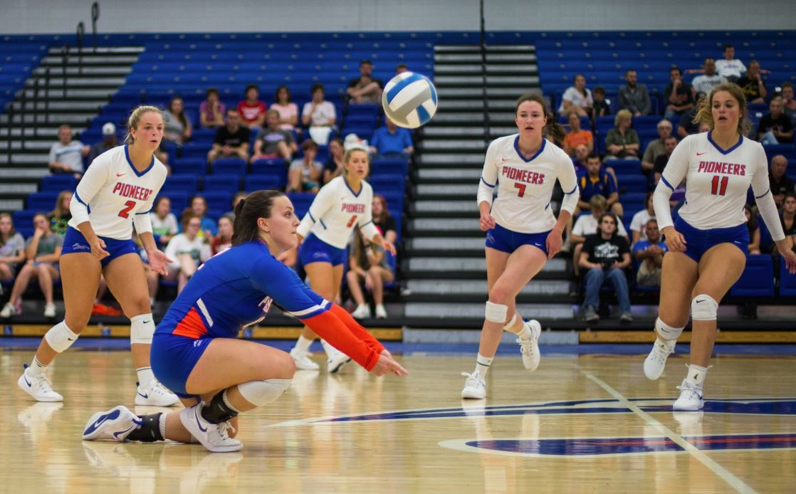 Pioneer Volleyball sweeps Loras in home opener