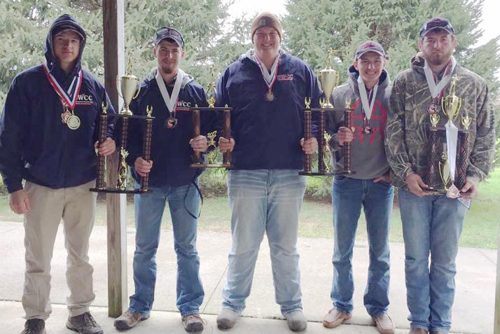 Pictured (L to R): Hunter Anderson, Tanner Howard, Trevor Elwood, Clayton Dale, and Blade Smith