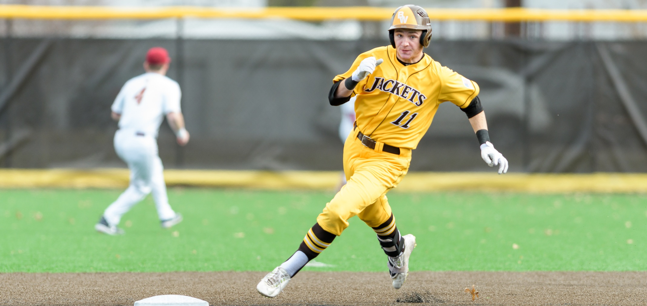 Freshman utility player Alex Ludwick had four hits in the doubleheader against Oberlin (Photo courtesy of Jesse Kucewicz)