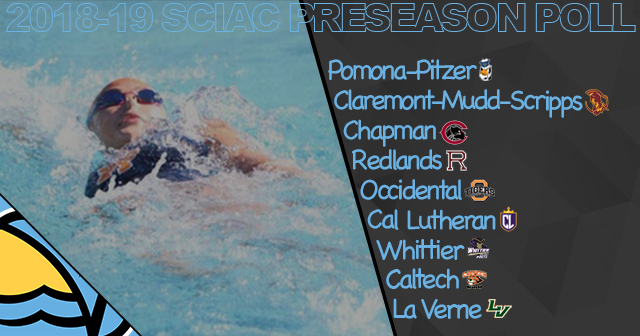Pomona-Pitzer Voted First in 2018-19 SCIAC Women's Swimming & Diving Preseason Poll