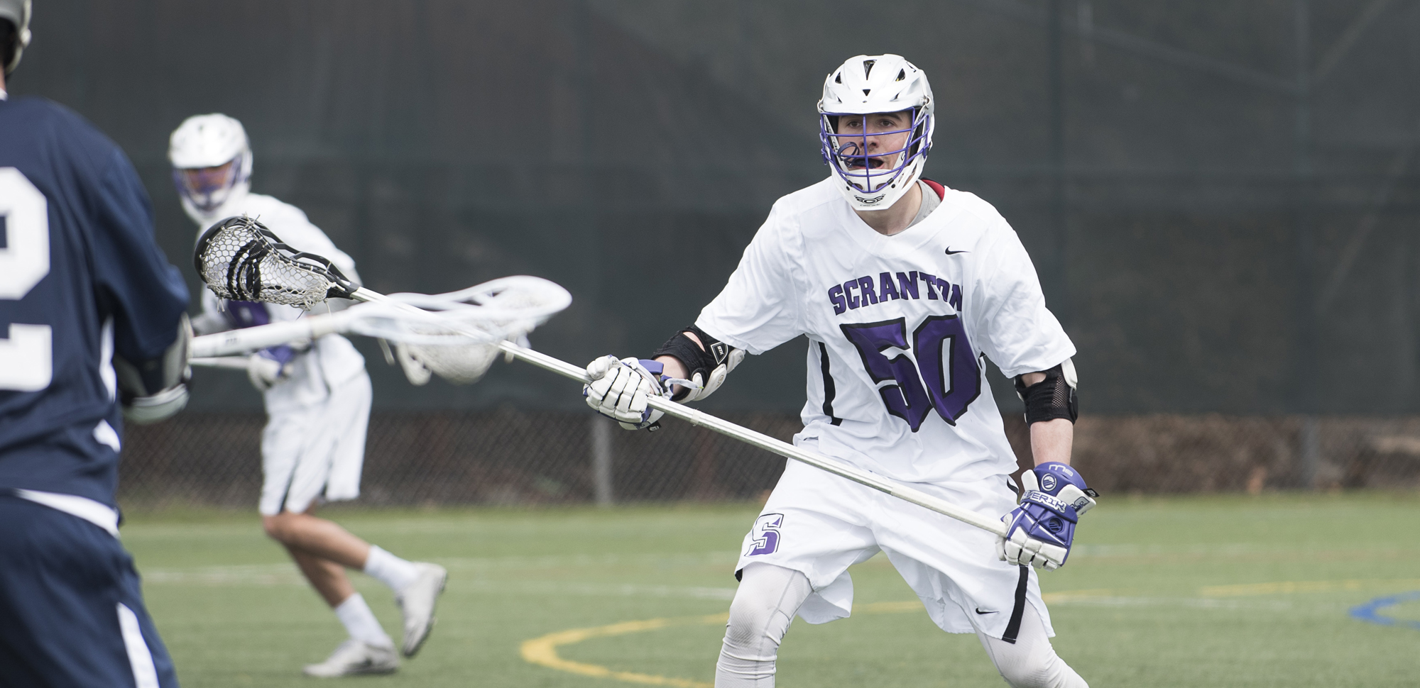 Junior Adam Maiale had nine ground balls and four caused turnovers in the Royals' win on Saturday.