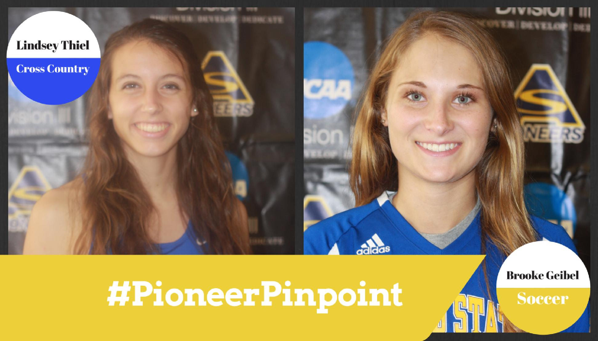 Thiel and Geibel Named #PioneerPinpoint Athletes of the Week