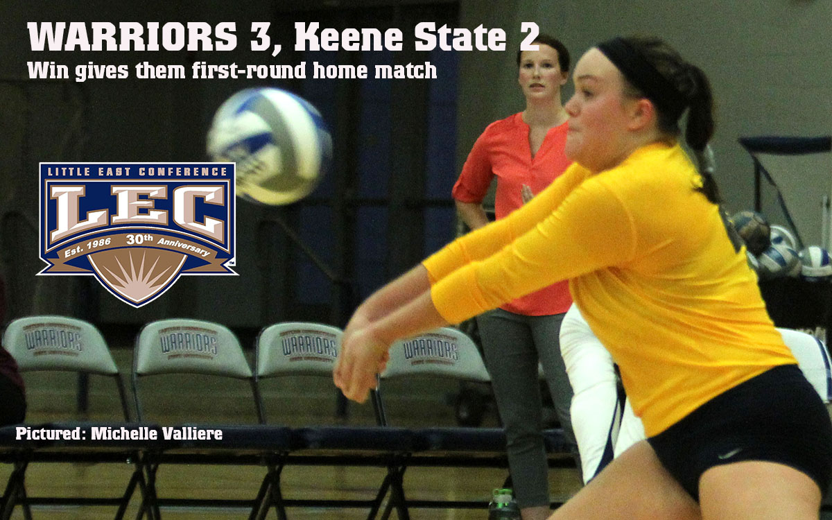 Women's Volleyball: Comeback Against Keene Nets  LEC First-Round Home Match