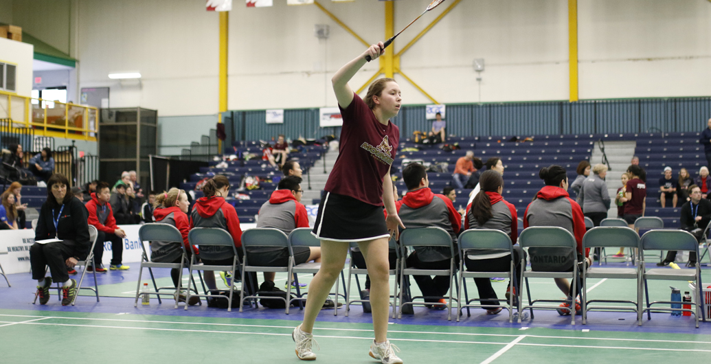 Badminton Mounties with both first half ACAA Tournaments