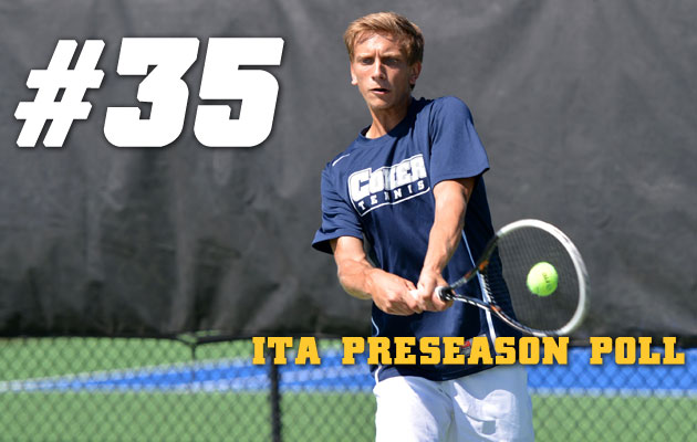 Men's Tennis Ranked No. 35 in National Poll