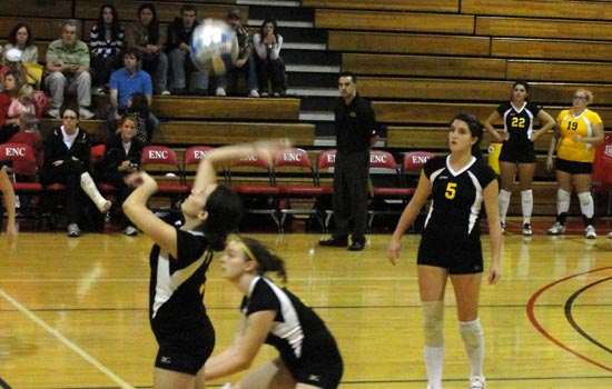 Women's Volleyball Suffers Loss to Emmanuel