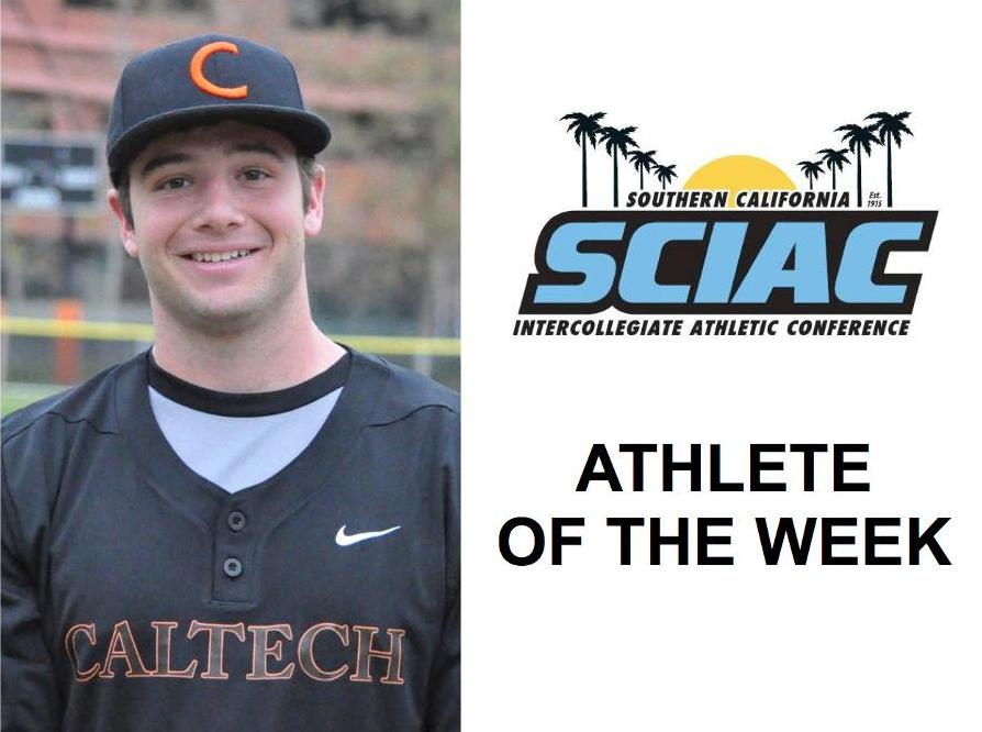 Garrett Levine Named SCIAC Athlete of the Week