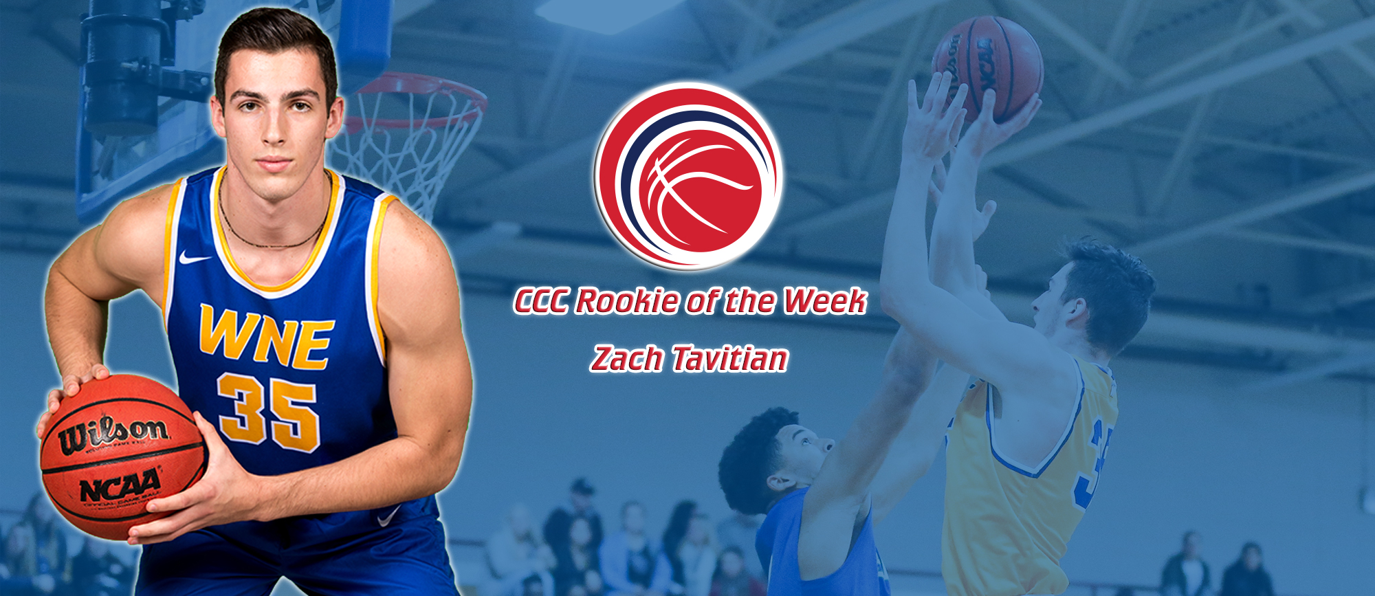 Zach Tavitian Receives Fifth CCC Rookie of the Week Award