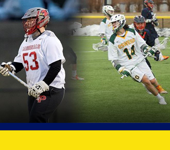 Emerson and Tesoriero selected as Men's Lacrosse Athlete and Goalie of the Week