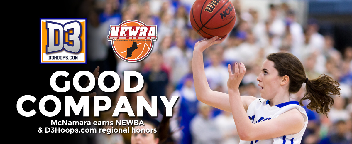 McNamara Collects NEWBA & D3Hoops.com Regional Honors