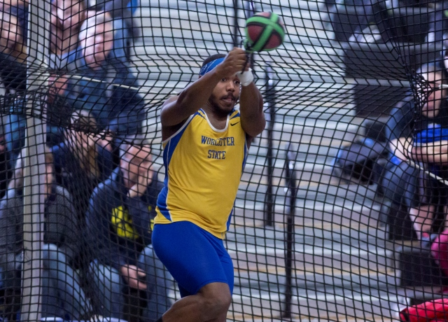 Weeks Marks Seventh Place Finish in Men's Shot Put at NEICAAA