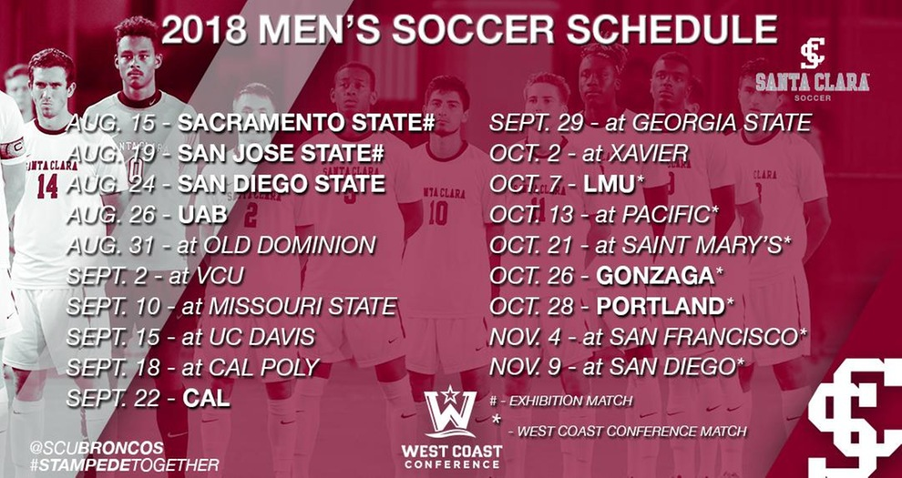 2018 Men's Soccer Schedule Released