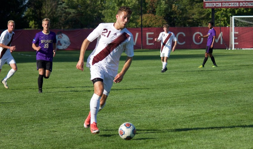 Men's Soccer Falls 3-1 to Kalamazoo