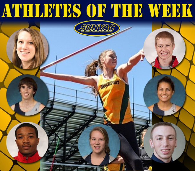 SUNYAC announces Athletes of the Week for Indoor Track & Field and Swimming & Diving