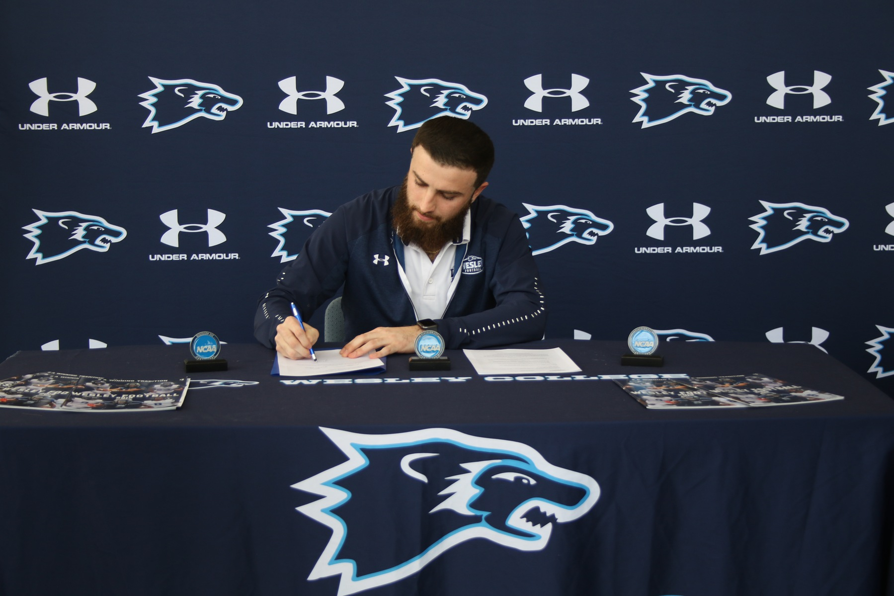 Wesley Football's Jon Mullin Signs Professional Contract to Play in Poland