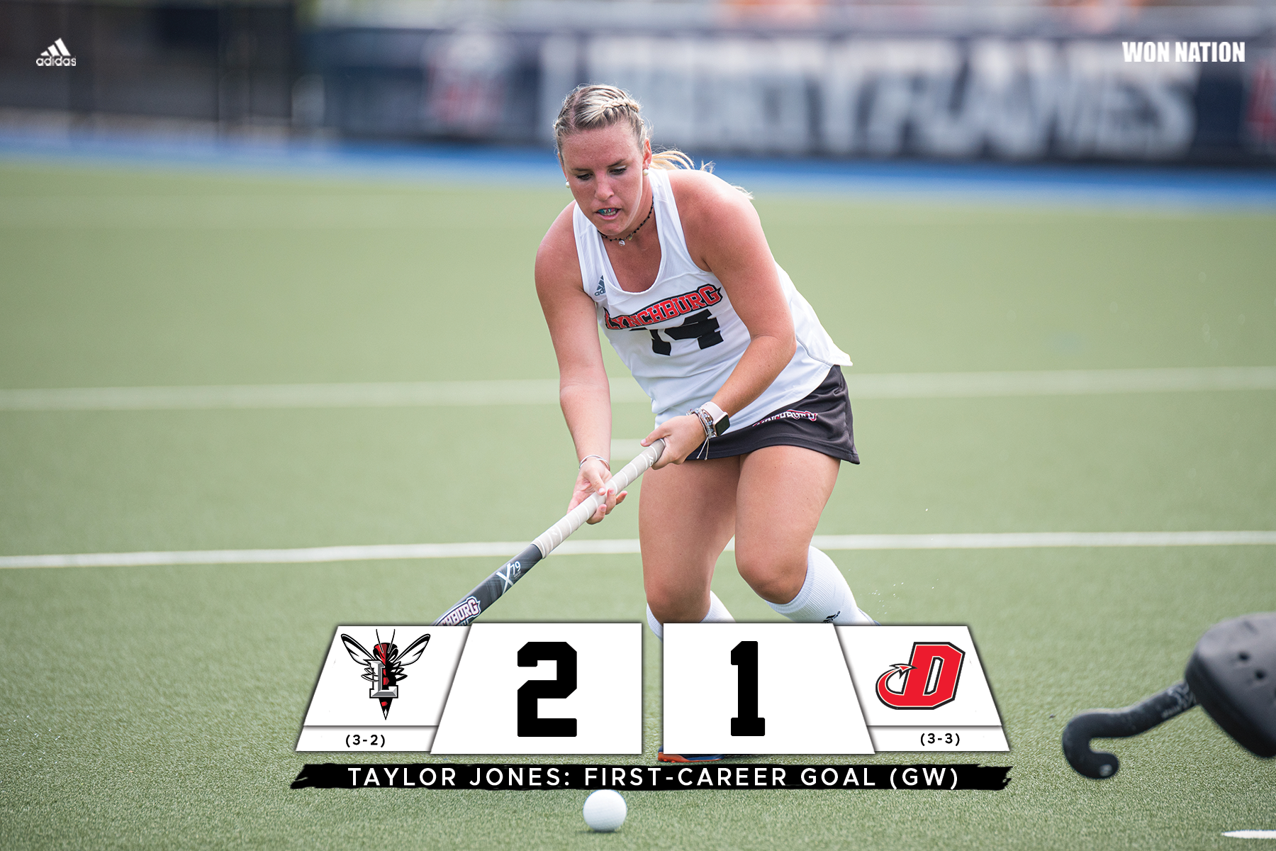 Taylor Jones scores her first career goal