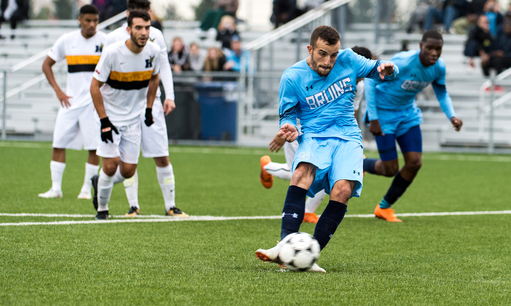 Men's soccer rivalry game with Humber ends in tie