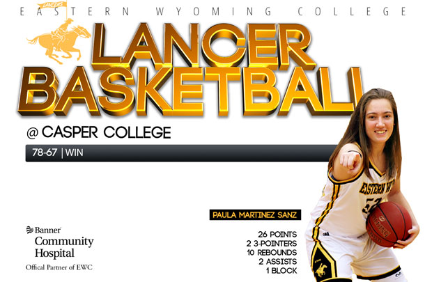 Eastern Wyoming College Lady Lancer Basketball team vs. Casper College Basketball team
