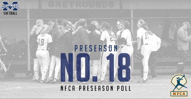 The Moravian softball team is ranked No. 18 in the 2018 National Fastpitch Coaches Association Preseason Top 25 Poll.