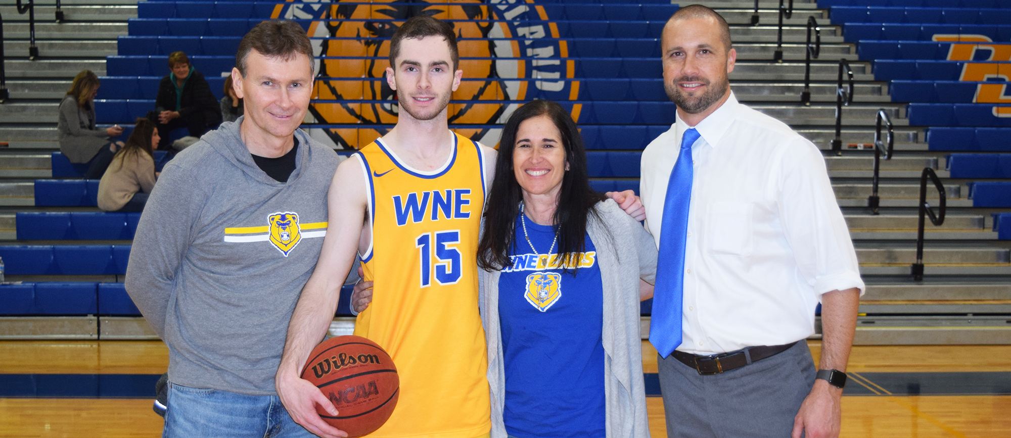 Mike McGuire became the 24th Golden Bear to reach 1,000 career points following his 21-point performance in Western New England's 93-79 win over Roger Williams on Saturday.