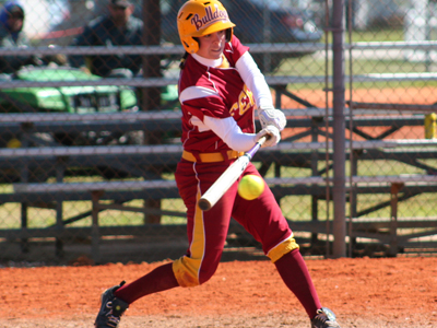A two-base hit by Stephanie Dusendang in the top of the seventh was the difference in Ferris State's 1-0 triumph at Saginaw Valley State.