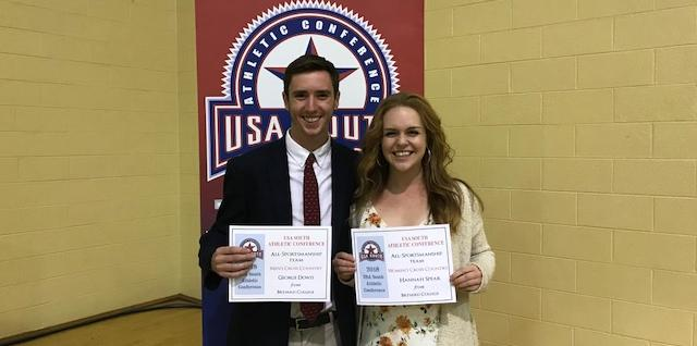 George Dowis and Hannah Spear Selected to the USA South All-Sportsmanship Team