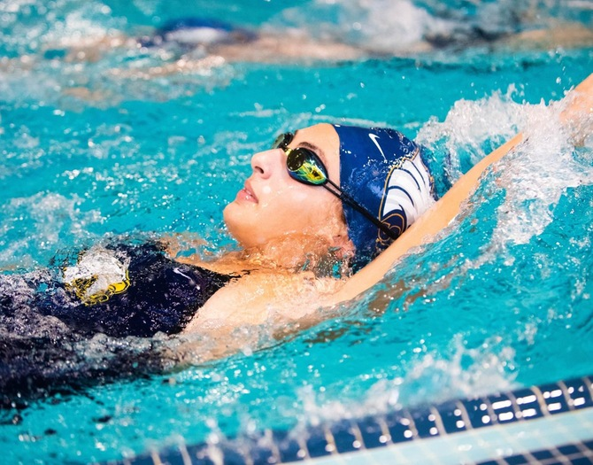 Women's Swimming Competes at ECAC Winter Championships
