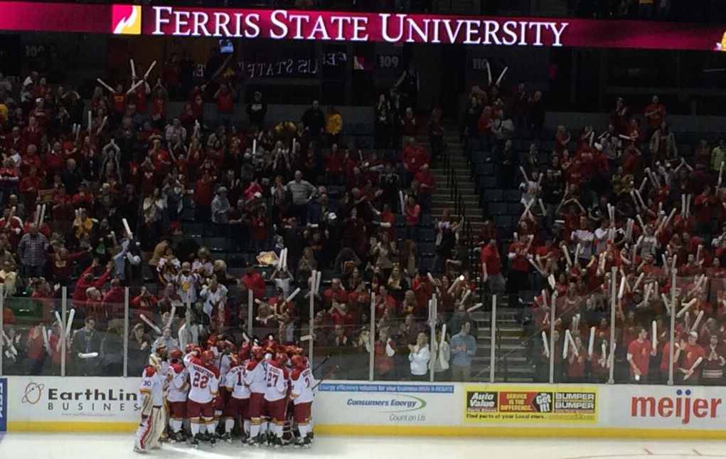 Mayhew's OT Game Winner Lifts FSU To WCHA Title Game At Van Andel Arena