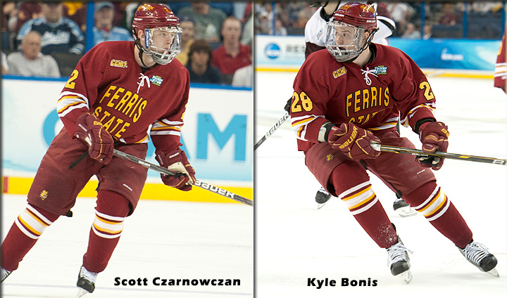 Two Bulldog Skaters Claim All-CCHA Preseason Accolades