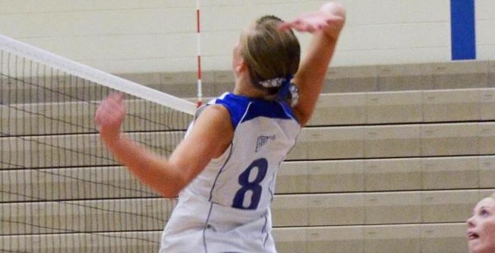 Duchow, Valentine lead Volleyball to first NAC victory