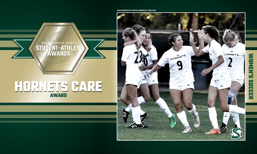 WOMEN'S SOCCER IS WINNER OF THE HORNETS CARE AWARD