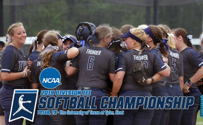 Thunder to Face Illinois Wesleyan in First Game of NCAA Championship