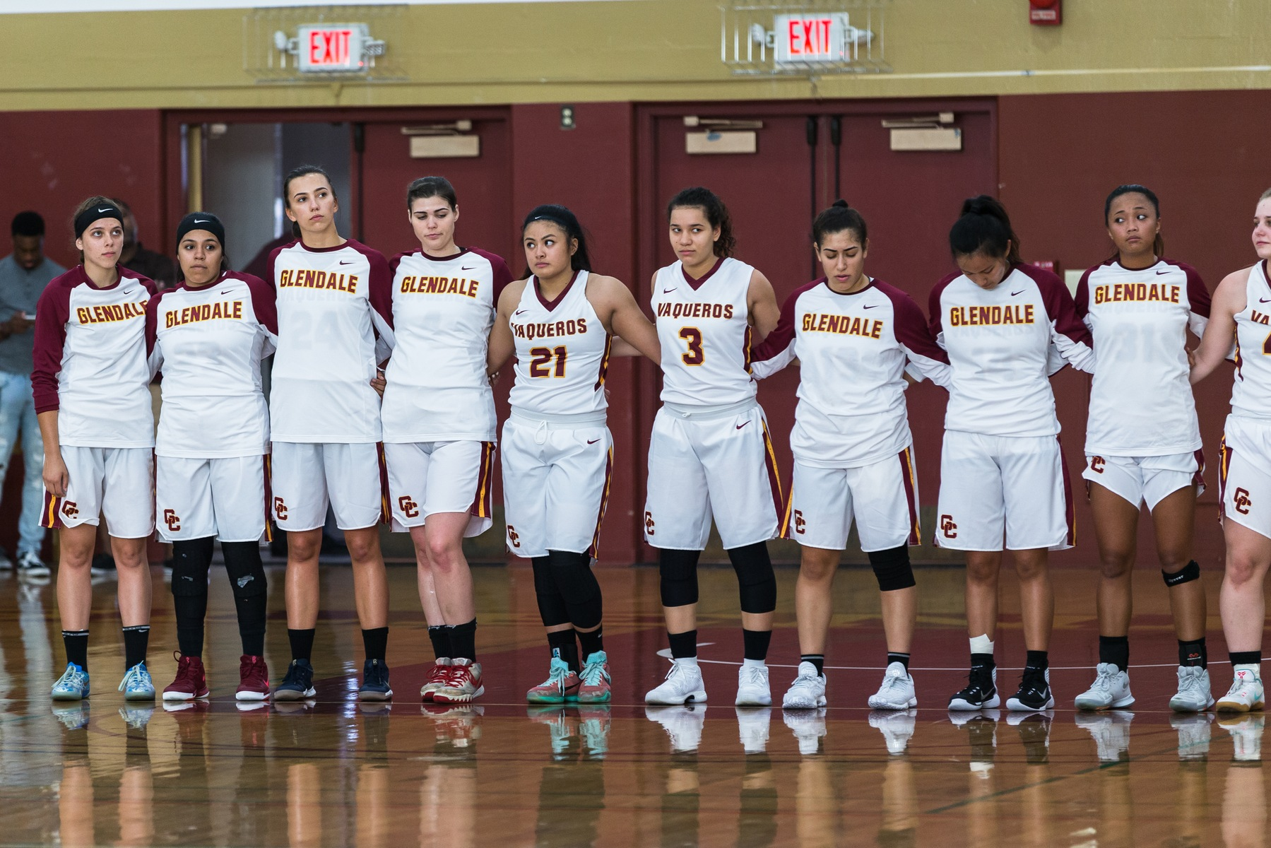 The Glendale College Women's Basketball team fell to Irvine Valley