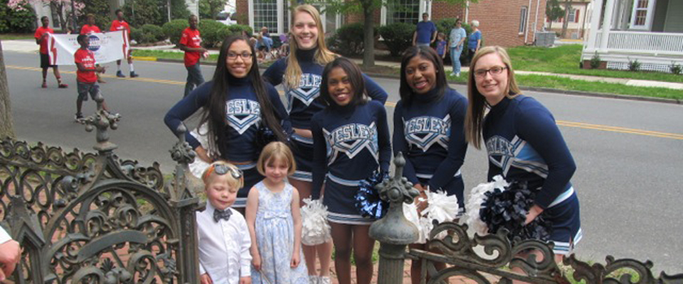 Cheer Marches at Dover Days Parade