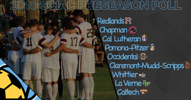 Redlands Tabbed First in 2018 SCIAC Men's Soccer Preseason Poll