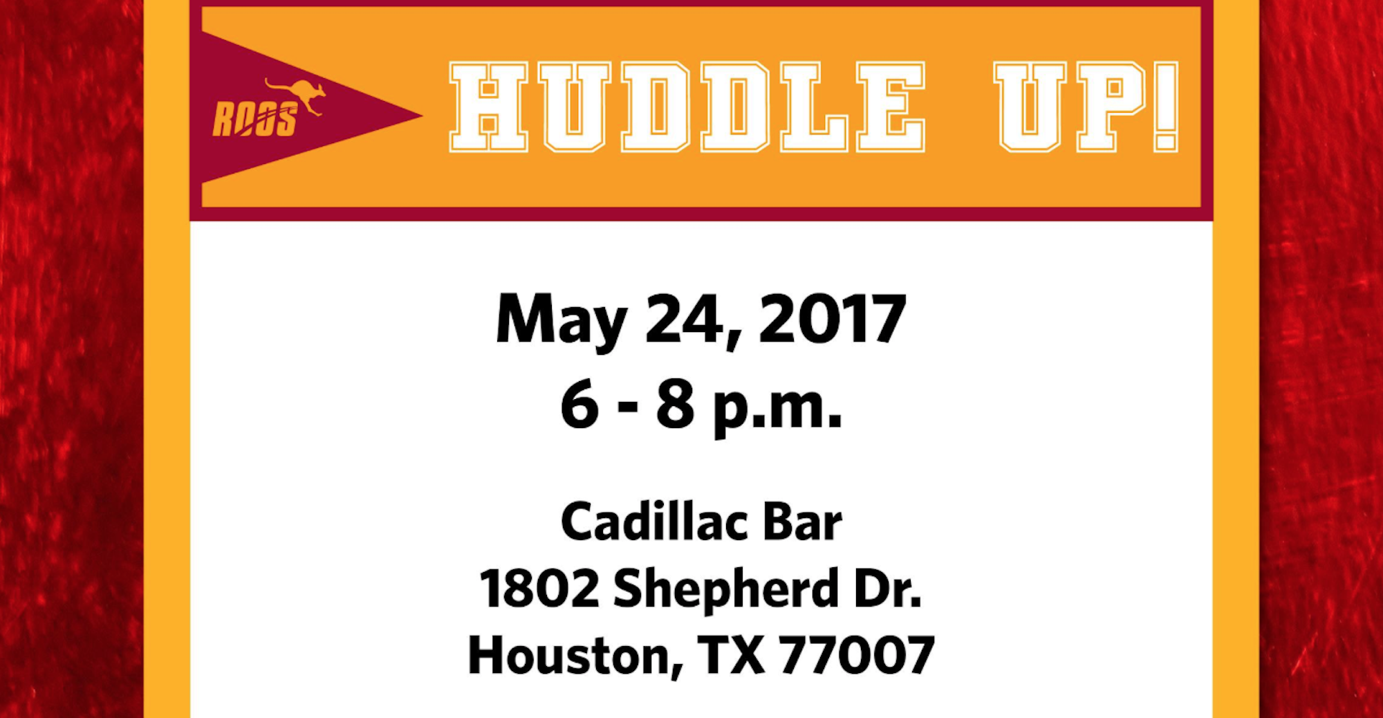 Huddle Up with the Coaches in Houston on May 24!