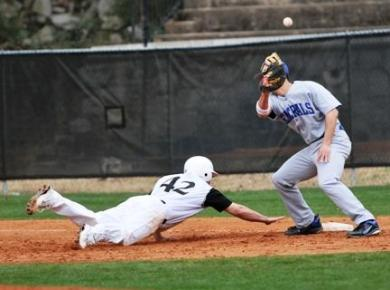 Baseball Drops Tough One to Rhodes in SAA Opener, 2-1