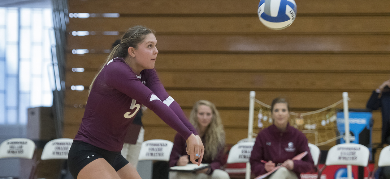 No. 20 MIT Holds Off Women's Volleyball, 3-1, In NEWMAC Opener