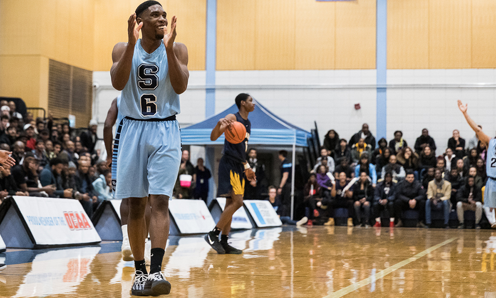 Strong second half lifts men's basketball over Humber in The Game