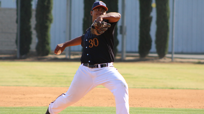 Freshman Daniel Guerrero pitched four shutout innings, surrendering just three hits and posting a pair of Ks. Photo By: Mykenna De Avila