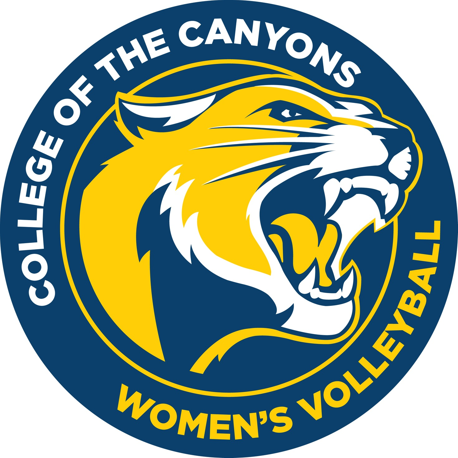 College of the Canyons women's volleyball logo.