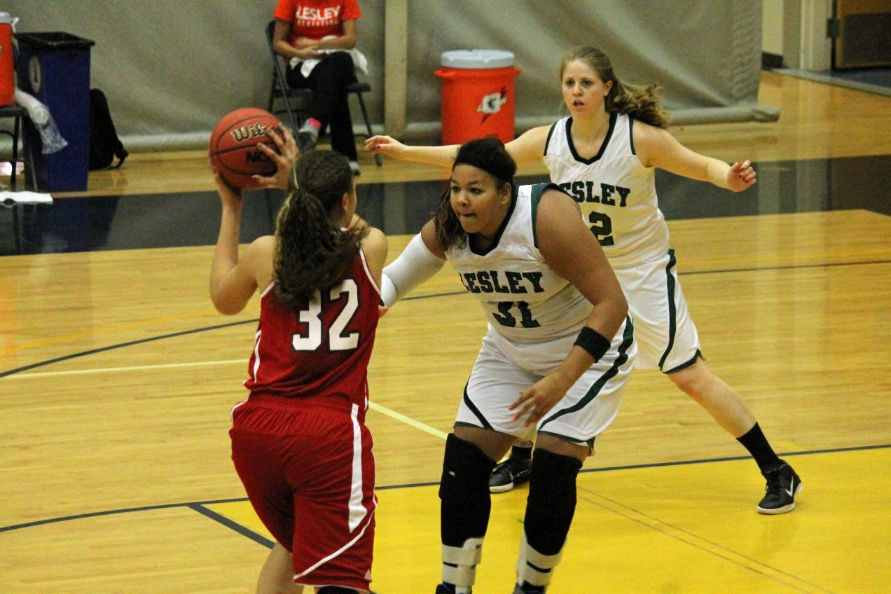 Amato's Double-Double Lifts Women's Basketball to First Win
