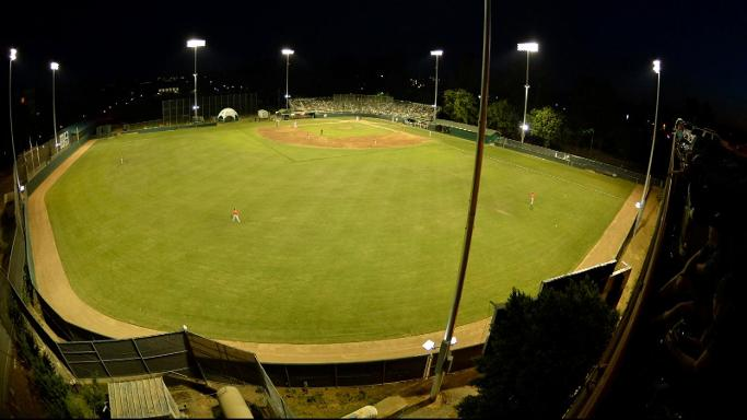 BASEBALL EDGED BY PACIFIC IN FIRST NIGHT GAME AT JOHN SMITH FIELD